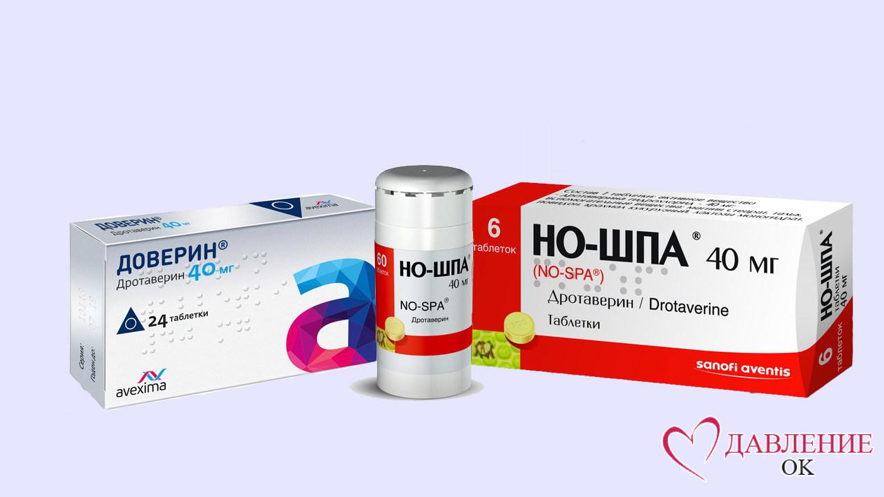 Дротаверин ношпа таблетки